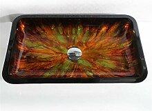 ZSDGY Glaswaschmittel Rechteckige Kunst