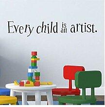 Zshhy Jedes Kind Ist Ein Aufkleber Vinyl