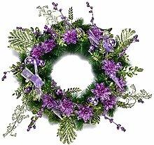 ZSP Kranz Weihnachten Dekoration, Purple