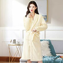 ZTIANR Damen Bademantel, Damen Robe Soft-Fleece