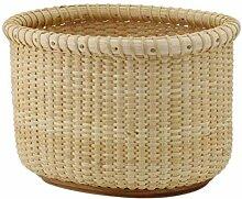ZTMN Aufbewahrung Rattan Basket Snack Box, die zum