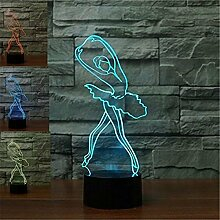 ZTOP Abstrakte 3D optische Illusion Ballerina