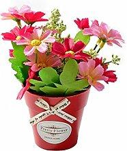 ZTTLOL Gefälschte Blume Chrysantheme Mit