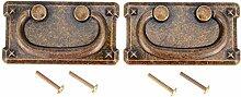 ZTZT 2er Set Antike Kommode Schublade zieht Griffe
