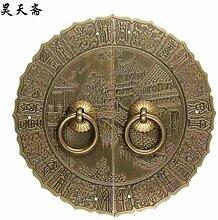 ZTZT antike Bronze antike Kupferbeschläge Tür