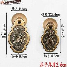 ZTZT Chinesische antike Kabinett Kupfer Griff