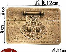 ZTZT Chinesische antike Knoten Hochzeit Ulme Box