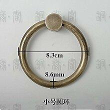 ZTZT Chinesische antike Türgriff Kupfer Pull Ring