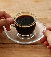ZTZT Espressotasse aus Glas nach Hause im
