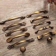 ZTZT Gelb Bronze Kleiner Griff und Zieht Antike
