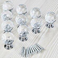 ZTZT Kristall Glas Griff Türgriffe 25-40mm in