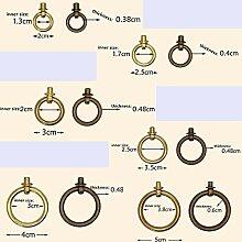 ZTZT Vintage Messing Griffe Runde Ring Tür Pull