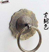 ZTZT Vintage Retro Kupfer Pull Ring/chinesische