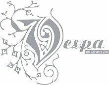 Zubehör Schriftzug Aufkleber für Vespa S Roller