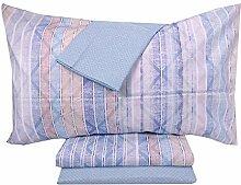 Zucchi Bettwäsche-Set, Blau, 160 x 280