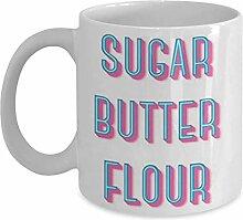 Zuckerbuttermehl   Kellnerin - Kaffeetasse Tasse