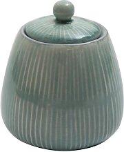 Zuckerdose Vorratsdose  PREGO hellblau H. 11,5cm D. 10cm Keramik A. U Maison (12,95 EUR / Stück)