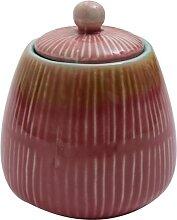 Zuckerdose Vorratsdose PREGO rot türkis  H. 11,5cm D. 10cm Keramik A. U Maison (14,95 EUR / Stück)