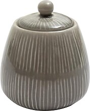 Zuckerdose Vorratsdose PREGO taupe H. 11,5cm D. 10cm Keramik A. U Maison (12,95 EUR / Stück)