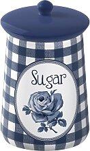 Zuckerdose Vorratsdose SUGAR blau weiß H 16cm D 9cm  Katie Alice Creative Tops (18,50 EUR / Stück)
