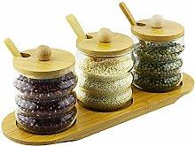 Zuckerdosen, Gewürzgläser aus Glas, mit