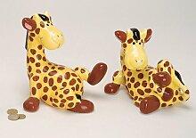 Zuckersüße Kinder-Spardose Giraffe, 18cm, tolle Geschenkidee für Kinder oder zur Gebur