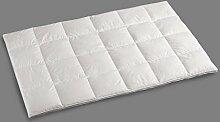 Zudecke Steppbett 85% Federn / 15% Daunen, Gr. 240x220 cm, Fb. 01 weiß, ca. 3000 gr.