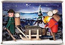 Zündholzschachtel Feuerholz für den Winter -
