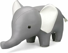 Züny Elefant Buch- und Türstopper Groß Grau
