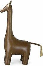 Züny - Giraffe, Buchstütze/Türstopper, braun, 1