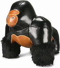 Züny - Gorilla Milo - Buch- und Türstopper - Groß - Schwarz-Braun - 1 kg