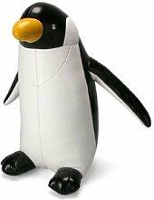 Züny Pinguin Buch- und Türstopper Groß Schwarz