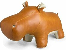 Züny - Türstopper Hippo - braun - weiß 2 kg