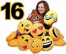 Zufällige Sortierung aus 16 Stück Emoticon