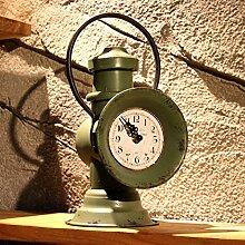 Zug Laterne Lampe Retro Clock Schmiedeeisen dekorative Uhr Bar Café Continental alten Quarzuhren