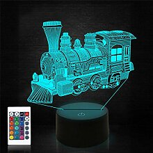 Zug Nachtlicht für Kinder Baby Teen 3D Illusion
