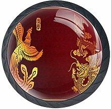 Zuggriff Schubladenknopf Dragon Phoenix