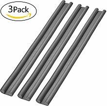 Zugluftstopper für Glatte Böden [ 3 Value Pack ] für Schutz vor Zug und Lärm 95 x 2.5 cm [Grau]