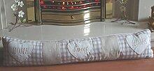 Zugluftstopper Home Sweet Home creme Stoff Türstopper doorstpper fd3341