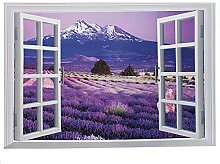 Zuhause Deko künstlich Fenster Hintergrund Entfernbar Wandtattoo Aufkleber