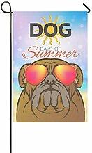 Zuhause dekorative Outdoor doppelseitige Hund Days