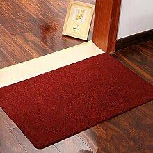 Zuhause Eingang Schlafzimmer Die Tür Teppich Teppich Wasseraufnahme Rutschfest Boden Matten , red , 40cm*60cm