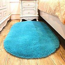 Zuhause verdicken Seidenhaar Wohnzimmer Schlafzimmer Teppich Küche Wasseraufnahme Teppich Badezimmer Rutschfeste Matte , blue , 80cm*160cm