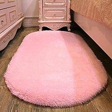 Zuhause verdicken Seidenhaar Wohnzimmer Schlafzimmer Teppich Küche Wasseraufnahme Teppich Badezimmer Rutschfeste Matte , pink , 80cm*160cm