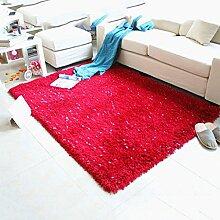 Zuhause Wohnzimmer Teppich Kaffetisch Schlafzimmer Dicker Stretch Seide Teppich Bedside Teppich , H , 70*1.4m