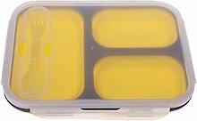 Zuhause Zusammenklappbare Bento-Silikon-Brotdose,