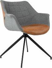 Zuiver Doulton Stuhl Vintage Braun Lederlook (b)