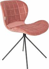 Zuiver OMG Velvet Stuhl Old Pink (b) 51.00 X (t) 56.00 X (h) 80.00 Cm