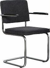 Zuiver Ridge Vintage Stuhl Mit Armlehnen Kohle (b) 60.00 X (t) 48.00 X (h) 85.00 Cm