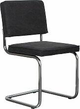 Zuiver Ridge Vintage Stuhl Ohne Armlehnen Kohle
